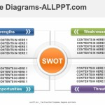 4 Color - SWOT Diagrams PowerPoint Template