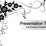 Black Floral Pattern Powerpoint Template Design Image (1)