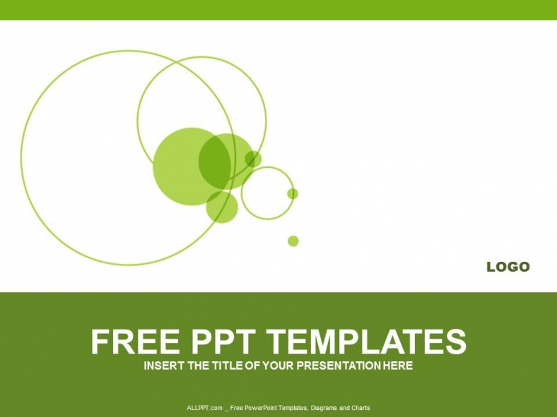 green circle powerpoint templates design download free