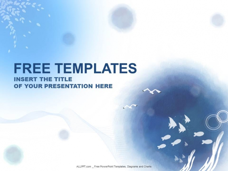 Free abstract powerpoint templates design ocean water powerpoint templates design toneelgroepblik Images