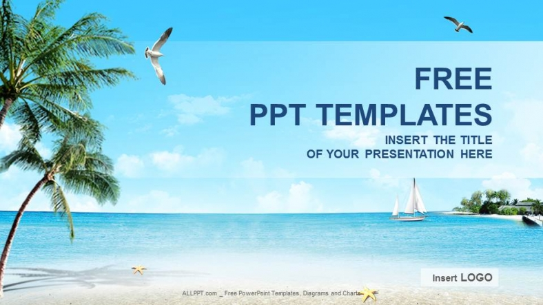 Beach Nature Powerpoint Templates + Download Free +