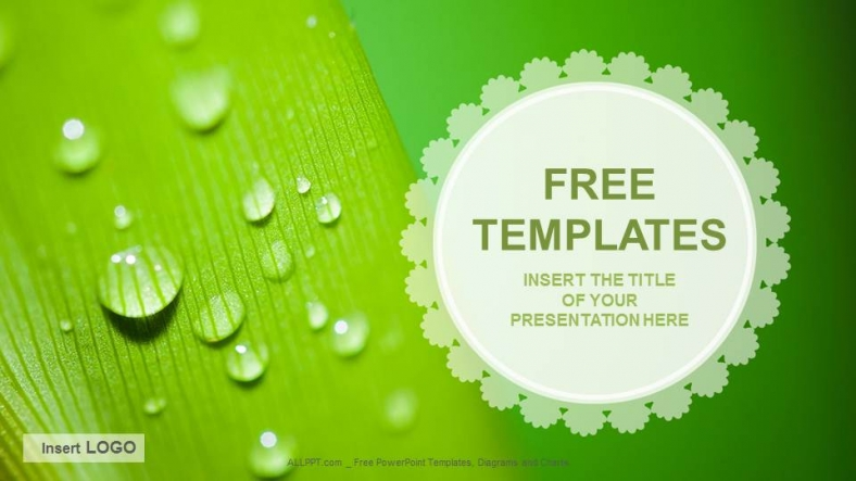 droplets nature ppt templates + download free +, Powerpoint templates