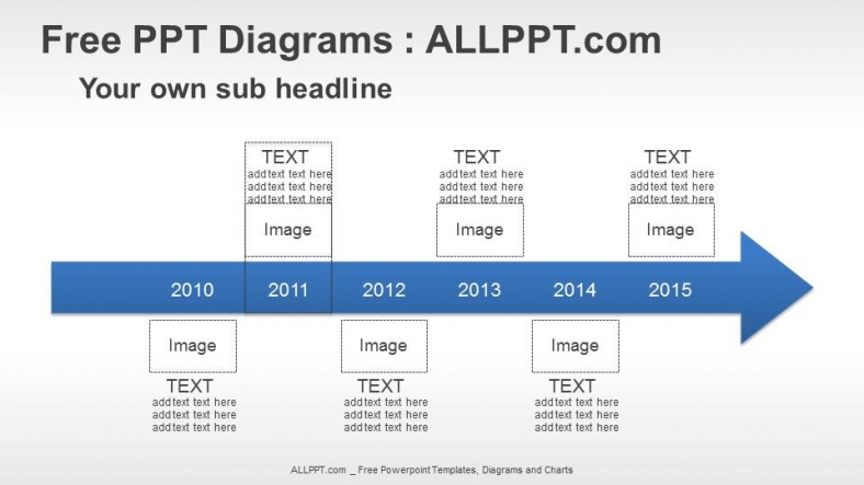 Superior 6 Years Arrow Timeline PPT Diagrams