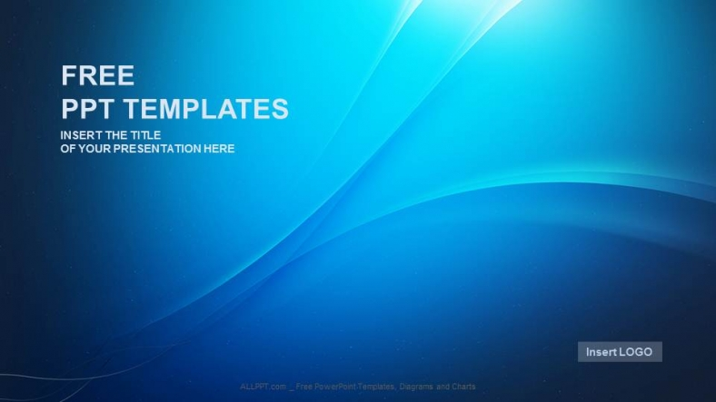 Blue Wave Abstract Powerpoint Templates + Download Free +