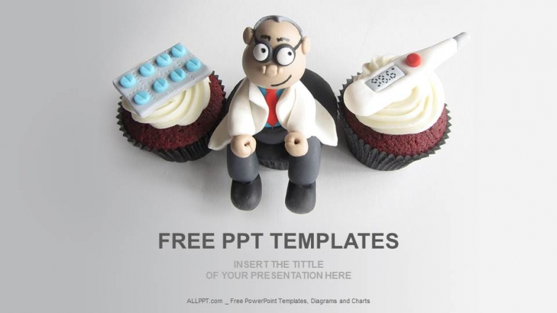 doctor themed cupcakes medical ppt  download free, Powerpoint