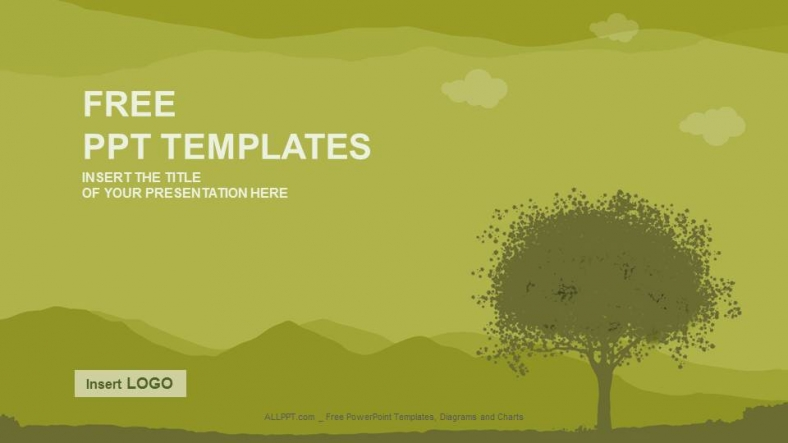 silhouette tree nature ppt templates download free