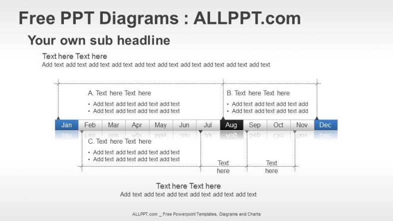 Year Timeline PPT Diagrams