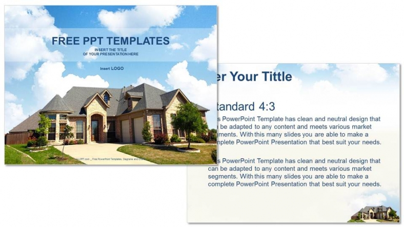 architecture home-real estate ppt templates, Modern powerpoint