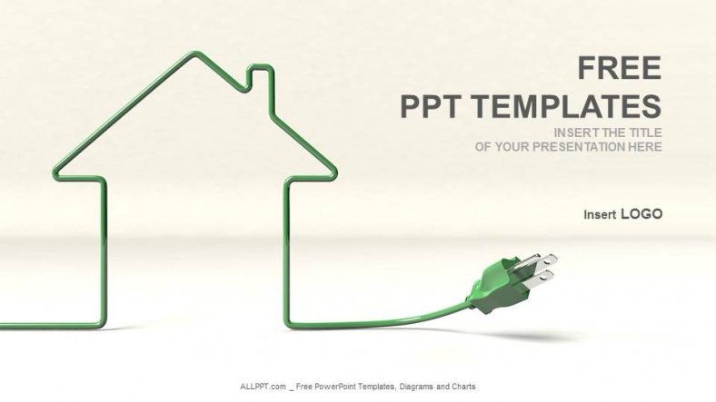 house and wire-real estate ppt templates, Modern powerpoint