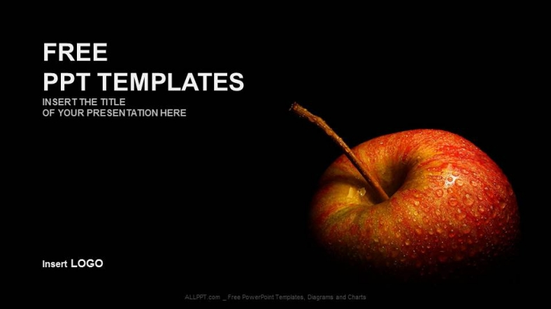 Flesh apple food ppt templates for Power point templates for mac