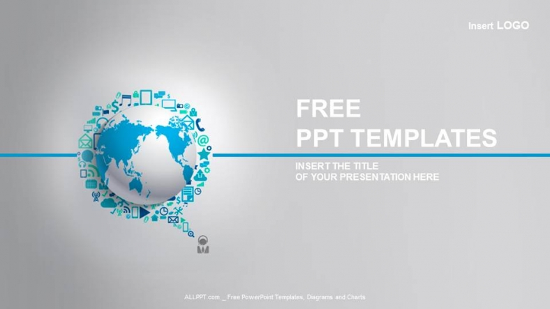 Free computers powerpoint template design laptop with technology icons business powerpoint templates toneelgroepblik Images