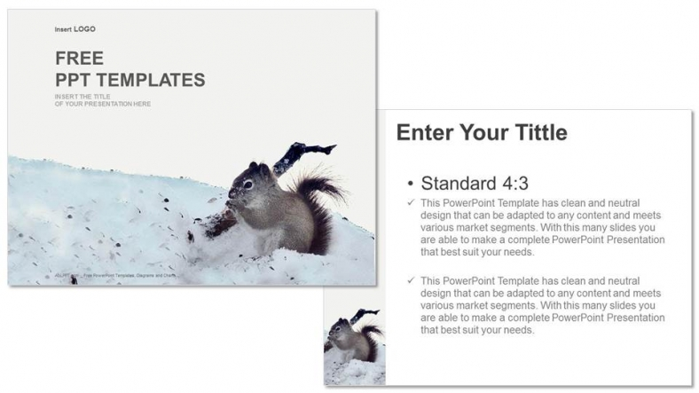 Squirrel-On-Snow-Nature-PPT-Templates (3)