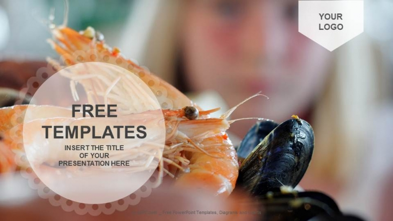 Seafood AppetizerFood Powerpoint Templates