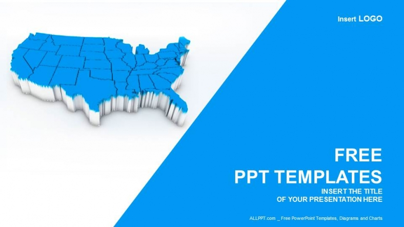 us map ppt template free, Modern powerpoint