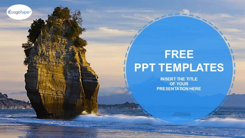 Landscapes beach rock nature ppt templates toneelgroepblik Images