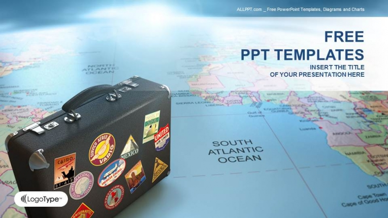 Suitcase-On-Globe-Map-Business-PPT-Templates (1)
