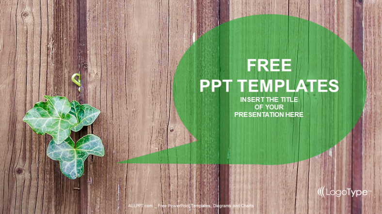 Free green concept powerpoint templates design green plant nature powerpoint templates toneelgroepblik Images