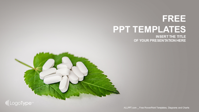 pills on the leaf-medical ppt templates, Modern powerpoint