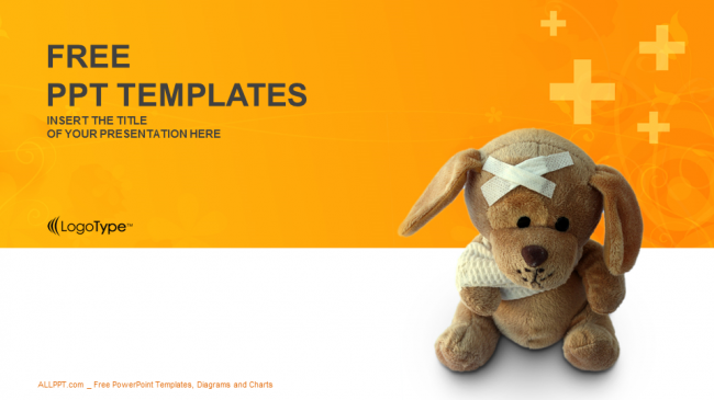 Bandaged teddy bear medical ppt templates toneelgroepblik Gallery