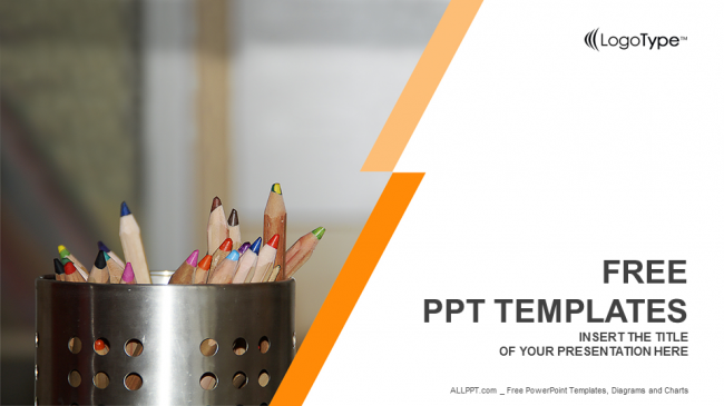 Coloured pencils education ppt templates toneelgroepblik
