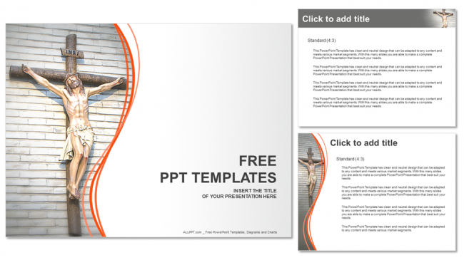 jesus christ-religion powerpoint templates, Modern powerpoint