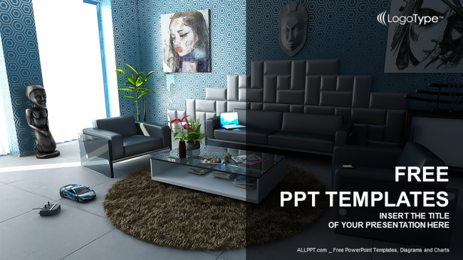 Modern interior real estate ppt templates toneelgroepblik