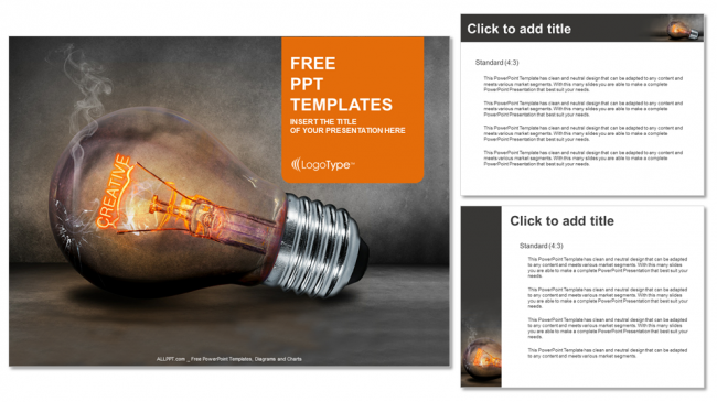 creative bulb business-powerpoint templates, Powerpoint templates