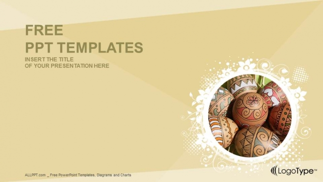 Easter EggsReligion Ppt Templates