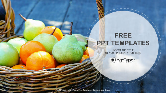 Free food powerpoint templates design fresh fruit basket food ppt templates toneelgroepblik Gallery