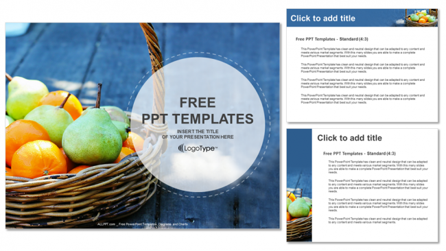 Fresh fruit basket food ppt templates fresh fruit basket food ppt templates 4 toneelgroepblik Image collections