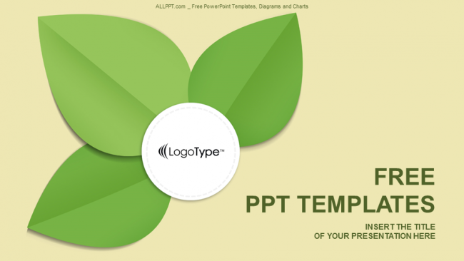 Green leaf abstract powerpoint templates toneelgroepblik Image collections