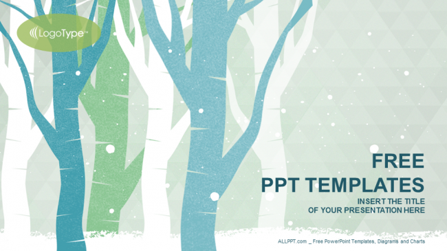 Winter TreesNature PowerPoint Templates – Winter Powerpoint Template