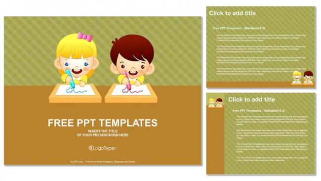Boys-And-Girls-Draws-A-Picture-PPT-Templates (4)