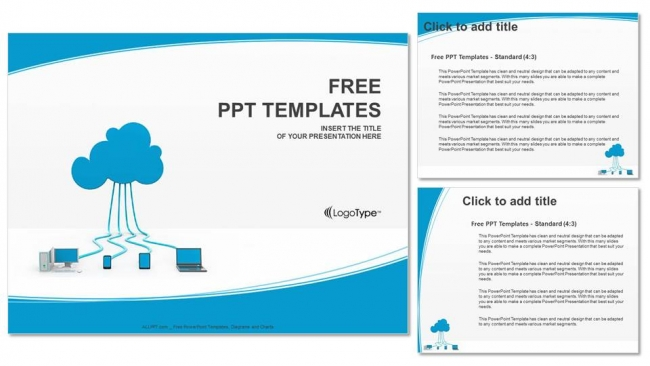 Blog single author small cloud computing powerpoint templates 4 toneelgroepblik Gallery