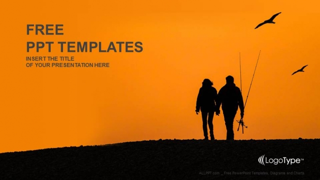 Fishing-Couples-With-Sunset-Recreation-PowerPoint-Templates (1)