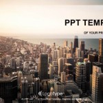 Rooftop-View-Panorama-At-Sunset--PPT-Templates (1)