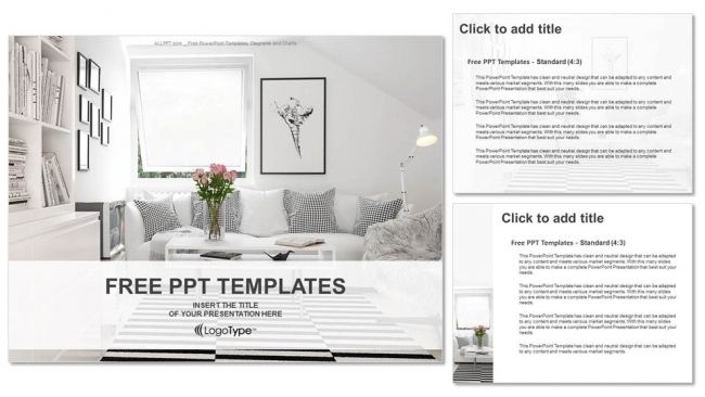 Interior design living room powerpoint templates for Apartment design ppt