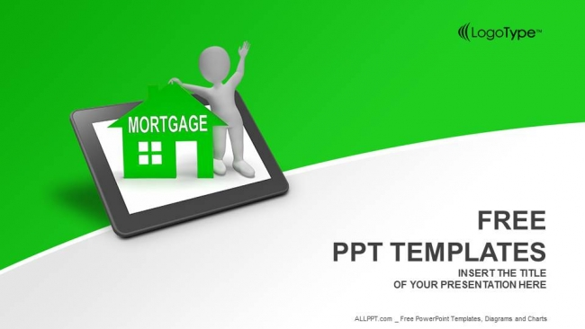 Mortgage house tablet powerpoint templates toneelgroepblik Gallery