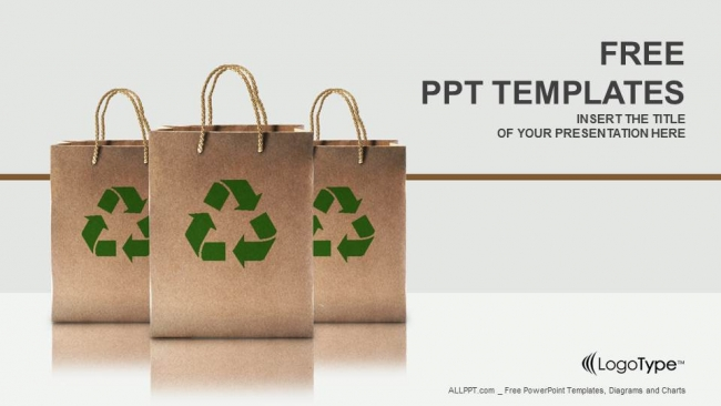 Paper bags with recycle sign powerpoint templates toneelgroepblik Gallery