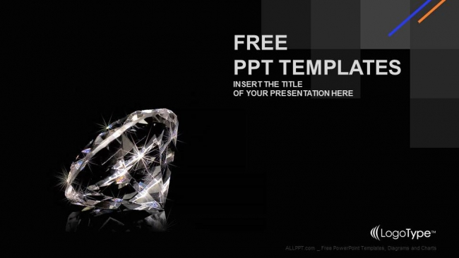 Luxury diamond powerpoint templates toneelgroepblik Choice Image