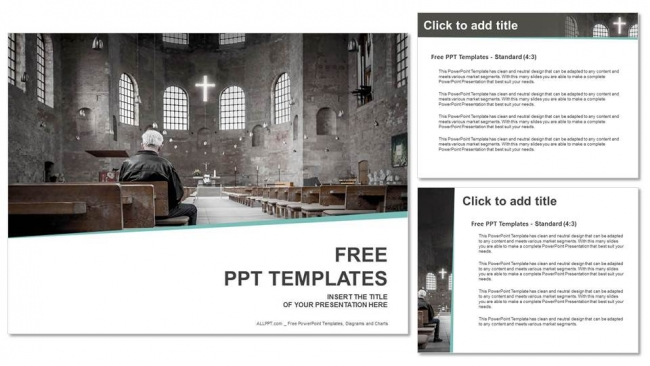 Man-praying-in-church-PowerPoint-Templates (4)