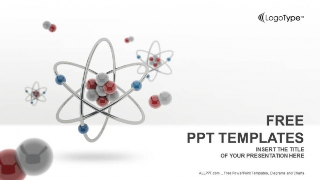 3d atom model powerpoint templates toneelgroepblik Images