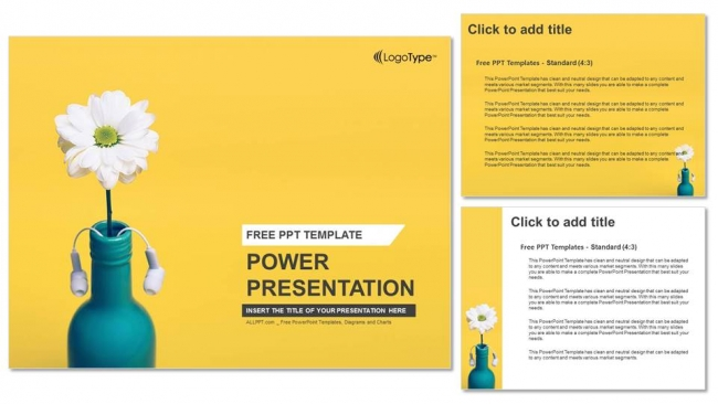 Bouquet-of-Daisie-PowerPoint-Templates (4)