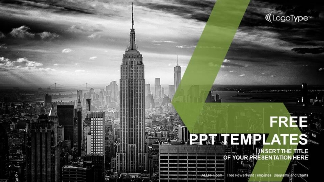 New york city skyline powerpoint templates toneelgroepblik Gallery