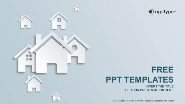 free real estate powerpoint templates design, Modern powerpoint