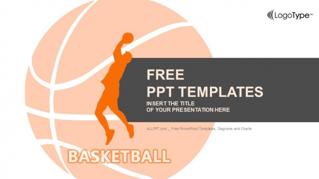 Red Basketball Player Powerpoint Templates