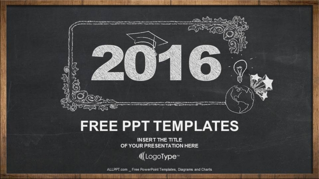 2016, concept on blackboard PowerPoint Templates (1)