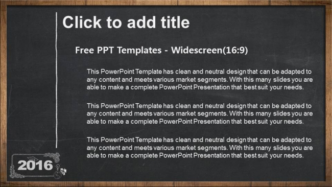 2016, concept on blackboard PowerPoint Templates (3)