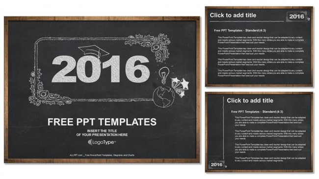 2016, concept on blackboard PowerPoint Templates (4)