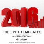 3D Chart for 2016 PowerPoint Templates (1)